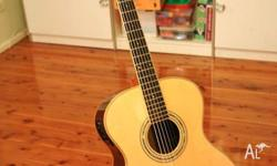 OM Size Custom Made All Solid Wood Acoustic Guitar with