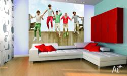 ONE DIRECTION GIANT WALLPAPER MURAL Two murals availabe