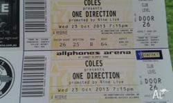 4 x One Direction Concert Tickets for Sydney Show at