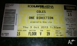 One direction Ticket- A Reserve ticket Matinee 1.30pm