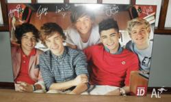 This One Direction poster is near new. It is in