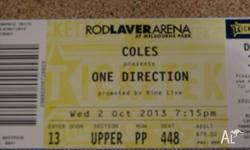 One ticket to One Direction Concert on 2nd October 2013