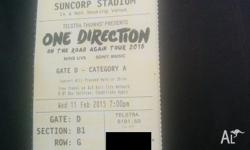 One direction ticket on the field section B1 close to