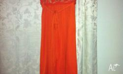 Brand: Pink Rouge Worn: once Size: 10 Colour: orange