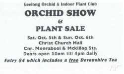 GEELONG ORCHID & INDOOR PLANT CLUB SPRING SHOW;;;COME