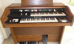 FREE.. ORGAN. ACETONE ELECTRONIC.TEAK COLOUR. IN GOOD