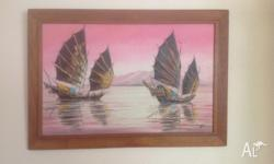 I have here an Oriental Oil Painting (textured) The