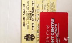 Two state of origin tickets worth 265 each and $700