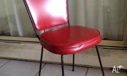ADD A SPLASH OF COLOUR WITH THIS HOT RED RETRO CHAIR