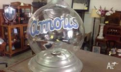 All original arnotts glass biscuit barrel very hard to