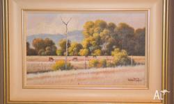 Original Oil Painting titled '�arly Grazing'. Painting