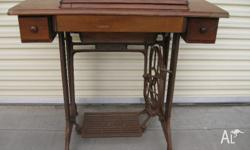 Original single drawer singer treadle sewing machine In