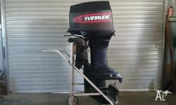 Evinrude 60hp,elec start, trim and tilt,forward control