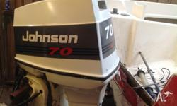 Selling a 70 hp johnson outboard ,tilt trim 20 inch