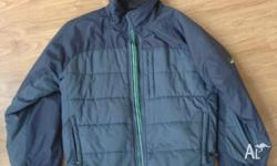 Puffer style jacket - Navy & Grey colour Bought from