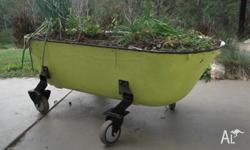 Cast iron bath tub converted to garden on load rated