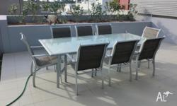 Outside / BBQ - Table and Chairs - Grey Metal - re