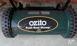 For sale is a Ozito Push Reel Mower, in near new