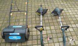Ozito Electric Mower and 2 x Electric Whipper Snippers