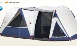 GENEROUSLY SIZED 2 ROOM FULLY FEATURED DOME TENT
