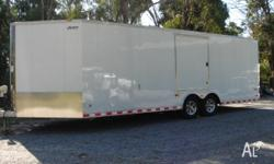 New Pace trailer with screw-less exterior. Marble