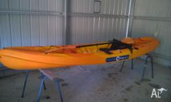 Pacific Angler 3.7m Kayak in Good conditon with Paddle,