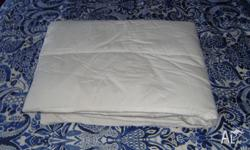The padded sheet fits completely over the base of a
