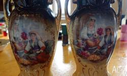 A pair of antique vases probably dated from the late