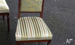 Pair of antique side/dining chairs with beautiful inlay