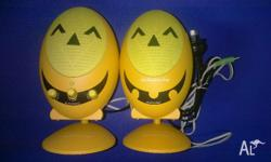 "- Brand new Camac ""Halloween day"" speakers. - 19cm in"
