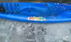 2 sit on Kayaks with paddles, Surfjet Pirahna and