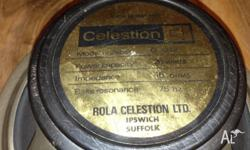 Two Celestion Black Back 25 watt guitar speakers from