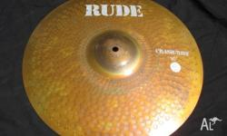 "Paiste 16"" RUDE Crash/Ride Cymbal. Strong, Penetrating,"