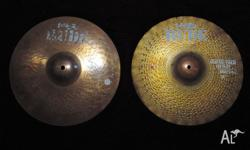 Paiste 1985 RUDE 14in Sound Edge Hi-hats. THESE HI HATS