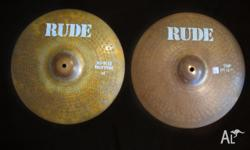 Paiste RUDE 14in Hi-Hats 1981 Vintage Cymbals. THESE HI