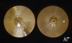 Paiste Signature Series 14in Power Hi-Hats. 1993