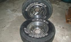 I have up for sale a pair of 15' chrome wheels with