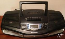 Panasonic CD Player with cassette and radio Well looked