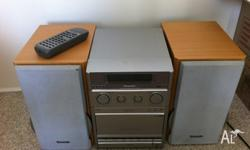 Panasonic SA-PM22 CD player includes remote. Great