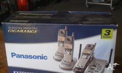 Complete Panasonic cordless phone system.