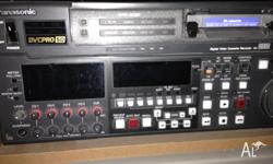 Professional Panasonic DVCPro50. Comes with various