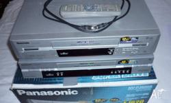 Two Panasonic VCRs in excellent working condition.only