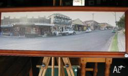 Cobargo Village NSW street scape printed on canvas and