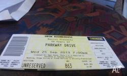 Selling one Parkway Drive ticket for tonights gig. Just