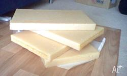 4 slabs of parrifin wax for piller candle making. (