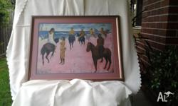 """HORSES"" by Paul Gauguin quality framed print .860 x."