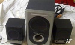 Altec speakers as pictured with user guide and setup