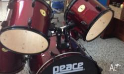 In excellent used condition Peace beginner drum kit