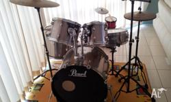 Great Xmas present. Pearl Forum drum kit. 3 mounted