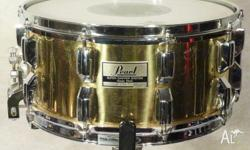 Pearl 80's Vintage 14x6.5 Brass Super Gripper Snare.